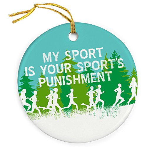 ChalkTalkSPORTS My Sport is Your Sports Punishment | Track & Field Porcelain Ornaments | Blue