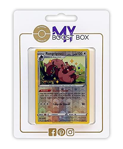Rongrigou (Greedent) 152/192 Holo Reverse - Myboost X Epée et Bouclier 2 Clash Des Rebelles - Box de 10 Cartas Pokémon Francés