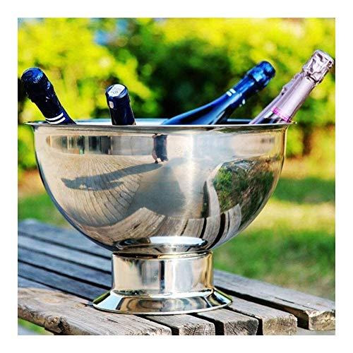 Acero Inoxidable Hielo Bowl, Botella Vinotecas 9L de Alta Capacidad del Cubo de Hielo del Partido de contenedores Reutilizables...