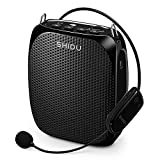 Wireless Bluetooth Portable Voice Amplifier with Microphone Headset,10W 1800mAh Rechargeable PA system Loud Speaker for Teachers, Coaches, Presentations, Tour Guides, Custumes, Promoters