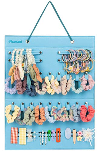 Baby Girls Hair Ties Holder, Hair Scrunchies Organizer Storage, Hanging Hair Bow Holder, Clips for Hair Organizer