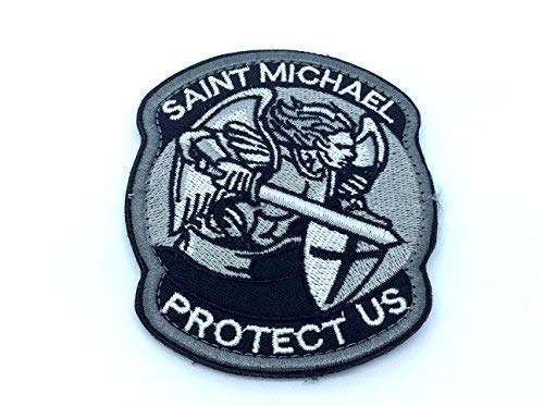 Parche bordado para Airsoft: Saint Michael Protect Us