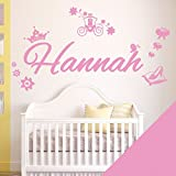 Personalised Girl's Name Sticker by Wall Designer