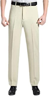 Howely Mens Wrinkle Resistant Straight Easy Care Business Classic Dress Pant