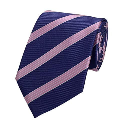 Fabio Farini - cravate rayée de différentes couleurs et largeurs hommes Violet-Rosa 8 cm