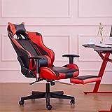 Silla de Oficina de Videojuegos sillas giratorias Reposapiés Soporte Lumbar del Amortiguador de Trabajo de la Silla Gaming Chair Sillón