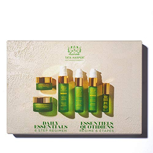 Tata Harper Daily Essentials Set, 6-Step Skincare Starter Regimen, 100% Natural, Made Fresh in Vermont