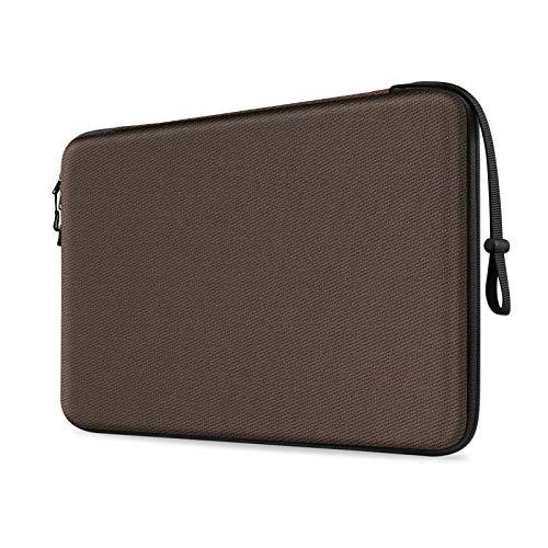 FINTIE 13 Pollici Porta PC Laptop Sottile Rigida Custodia Borsa per 13.3  MacBook Air A2337 M1 A2179 A1932, MacBook PRO 13 A2338 A2251 A2289 A2159 A1989 A1706 A1708, Surface PRO X 7 6 5, Marrone