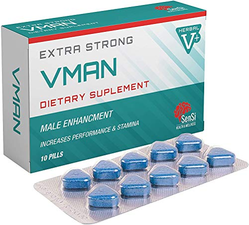 VMAN 300mg | 10 Tablets Immediate Effect, Maximum Duration, Without Contraindications, 100% Natural