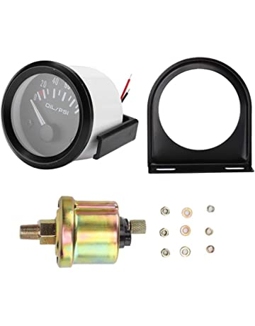 Almencla 0-100Psi 52mm Digital Electric Oil Pressure Gauge for Motorcycle Car Replace