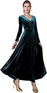 Best teal velvet dress long Reviews