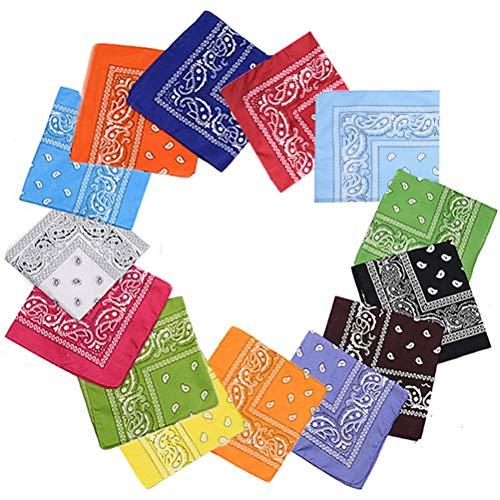 XM-Amigo 14 Stk. Set Multifunktions-Mehrfarben-Kopfbedeckung Bandana Cycling Stirnband Handkerchie für Erwachsene und Kinder (14 Farben)
