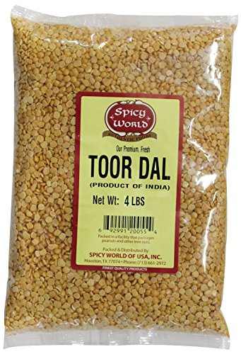 Spicy World Toor Dal (Split Pigeon Pea) 4 Pound Bag