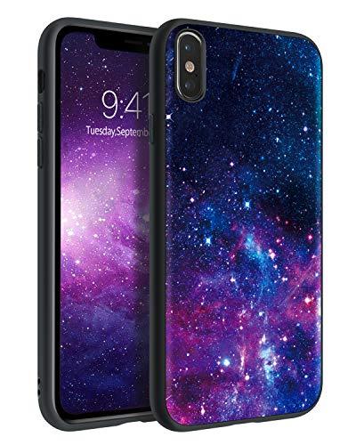BENTOBEN iPhone X Case, iPhone Xs Case, Slim Fit Glow in The Dark Soft Flexible Bumper Protective Anti Scratch Non-Slip Phone Cases Cover for iPhone X/iPhone Xs 5.8 Inch, Nebula/Galaxy Design