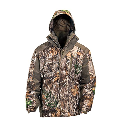 Hot Shot Men's 3in1 Insulated RealTree Edge Camo Hunting Parka, Waterproof, Removable Hood, Year Round Versatility, Extra Large