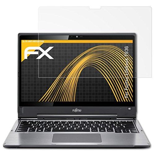 atFolix Panzerfolie kompatibel mit Fujitsu Lifebook T936 Schutzfolie, entspiegelnde & stoßdämpfende FX Folie (2X)
