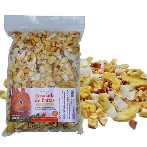 FINCA CASAREJO Snack Natural para Conejos, cobayas y Chinchillas - Ensalada DE Frutas (1 Unidad)