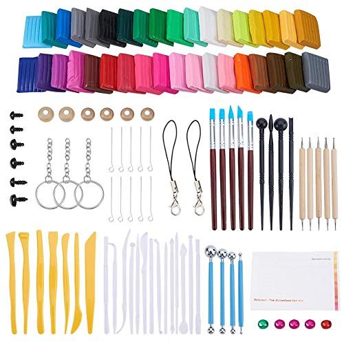 PROKTH 36 PCS DIY Handmade Crafts Material Clay Set Plastic Clay Plasticine Tool Accessories Children's Favorite with Blocks Polymer Clay Set