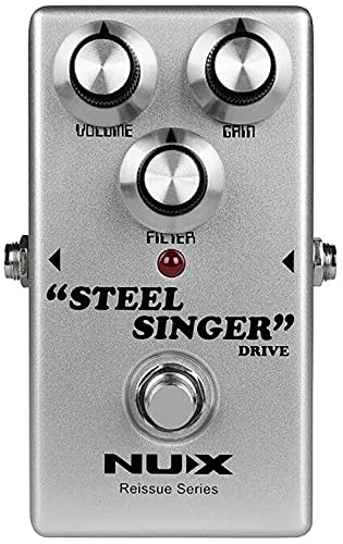 Nux Pedal de overdrive de amplificador de válvulas analógico (STEEL-SINGER)