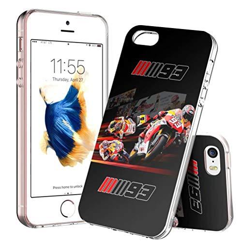 Funda para iPhone 5/5s/SE, ultradelgada de TPU transparente a prueba de golpes y antiarañazos – patrones personalizables [LZX20190424]