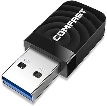 Adaptador WiFi USB,WiFi Antena USB WiFi Adaptador AC1300Mbps WiFi Dongle 5ghz Adaptador USB 3.0 Dongle Dual Band 2.4GHz 5GHz para PC de ...