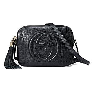 Fashion Shopping Gucci Women's Soho Small Leather Embossed Disco Crossbody Handbag Black