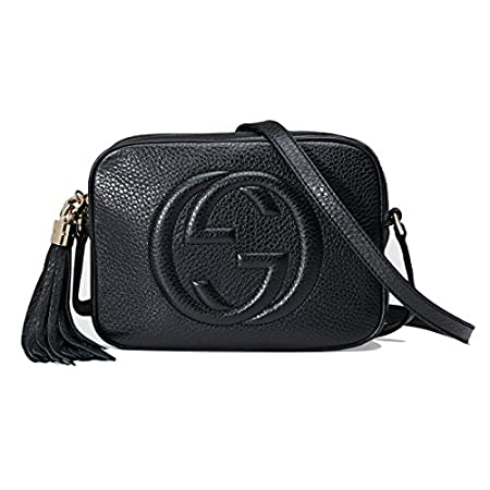 Fashion Shopping Gucci Women's Soho Small Leather Embossed Disco Crossbody Handbag Black
