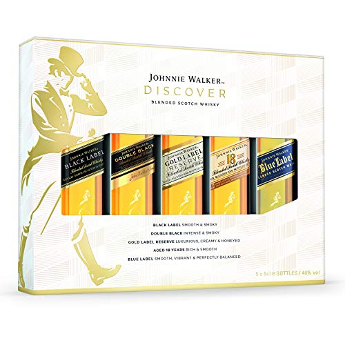 Johnnie Walker Blended Scotch Whisky 5x 5cl Gift Pack