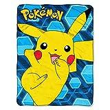 Pokémon, 'Glitch Pikachu' Micro Raschel Throw Blanket, 46' x 60', Multi Color