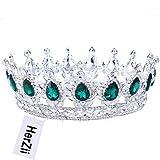 HerZii, corona da principessa con strass, tiara per matrimoni e feste