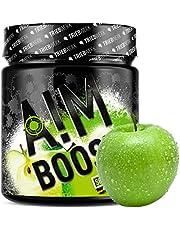 AIM BOOST | Sour Apple | Performance Booster | 400 g | 40 porties | 23 werkzame stoffen | 247 mg cafeïne + tyrosine + theanine | 8 vitamines | weinig suiker |