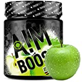 AIM BOOST   40 Portionen   23 Wirkstoffe   247mg Koffein + Tyrosin +Theanin + Vitamine (Sour Apple)