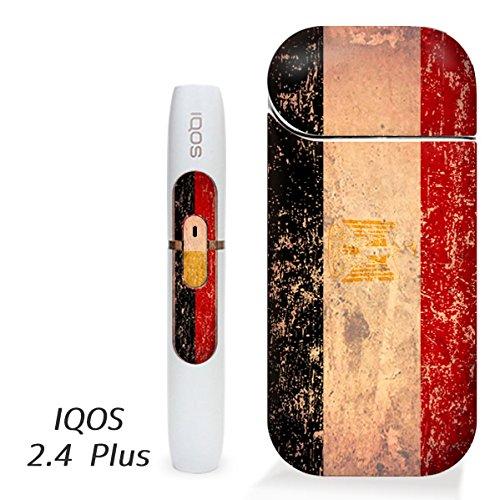 アイコス用 スキンシール ( 2.4Plus 用 ) エジプト 国旗 (アンティーク) シール ステッカー iQOS用,