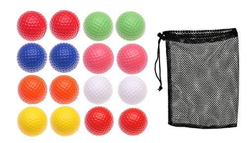 Tigor Golfbälle – Übungsgolfbälle – Kinder Golfball – mehrfarbiger Leichter Schaumstoff elastisch Indoor Outdoor Training Sport Bälle (16 Stück)