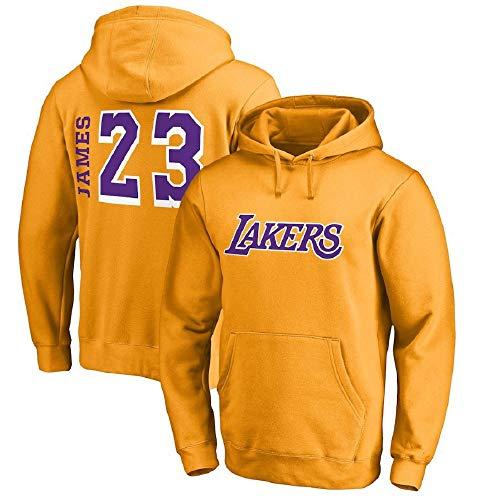 JINHAO Sudadera con Capucha para Hombre NBA Lakers # 23 James Loose Pullover Top Sudaderas con Bolsillos de Canguro Tops