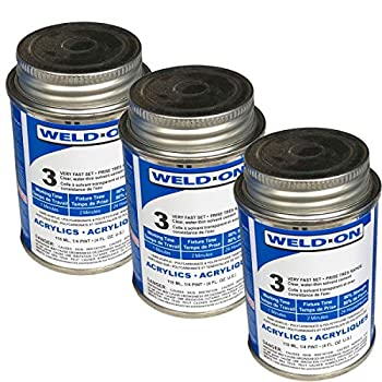 Weld-On 3 Acrylic Adhesive - 4 Oz Pack of 3