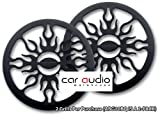 Audiobahn ABG10BQ - 10' Flame Grilled Car Subwoofer Grilles. In Black (Sold In Pairs)