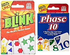 Mattel Games Blink – The World's Fastest Game! AND Phase 10 Card Game