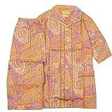 【ETRO】エトロ 日本製 ペイズリー 前開き 紳士 パジャマ(半袖&長ズボン) 橙 size M