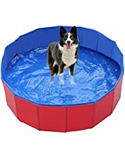 LERDBT Kleuterbad,Draagbaar opvouwbaar buiten/binnenbad kinderbad,Antislip babyzwembad huisdier zwembad (rood)