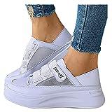 Beudylihy Zapatillas de plataforma cómodas para mujer y niña, sin cordones, para el tiempo libre, con cierre de velcro, color, talla 39 EU