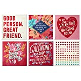 Hallmark Studio Ink Valentines Day Cards Assortment for Friends (6 Valentine's Day Cards with Envelopes)