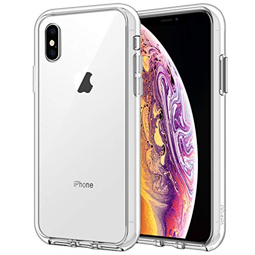 JETech Funda iPhone XS/X, Carcasa Anti-Choques y Anti-Arañazos, Transparente