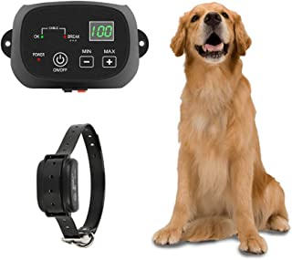 TTPet Electric Dog Fence,In-ground/Aboveground Pet Containment System,IP66 Waterproof&Rechargeable Collar,Shock&Tone Correction