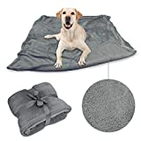 Pawsse Large Dog Blanket,Super Soft Fluffy Sherpa Fleece Dog Couch Blankets and Throws for Large Medium Small Dogs Puppy Doggy Pet Cats,Grey