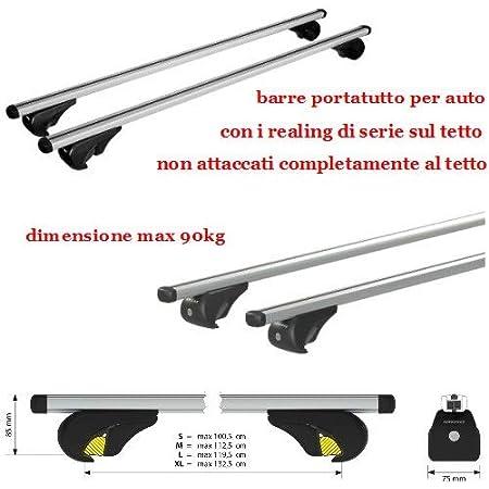 EMMEA Barre PORTATUTTO Porta PACCHI 120 CM Auto Compatibile con Skoda KAROQ 2019 Railing Standard STACCATI dal Tetto Porta Tutto Porta Bagagli