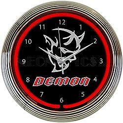 Dodge SRT Demon Red Neon Clock