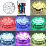 Wanghuaner Luz sumergible de control remoto LED que cambia las luces de buceo impermeables