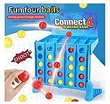 HJQL Shots Ball Toys para Niños, Rebotando 4-To-Link Shots Toys para Uso Doméstico Juego De Mesa, Blue Bouncing Linking Shots Ball Game
