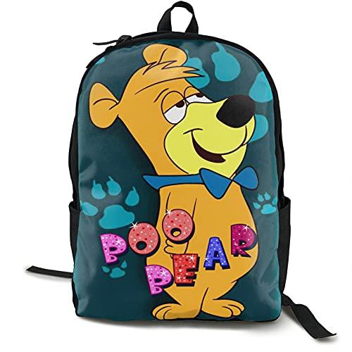 Yogi Bear Boo Boo Backpack Laptop Backpack College School Backpack Daypack Book Bag Computer Bag Laptop Travel Bag for Men Women Boys Girls